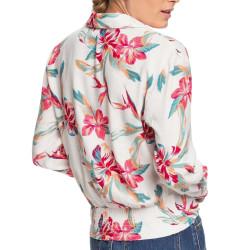 Chemise Blanche à fleurs Femme Roxy The Lover Side pas cher