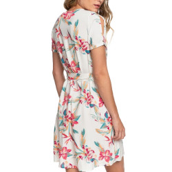 Robe Blanche à fleurs Femme Roxy Monument View pas cher