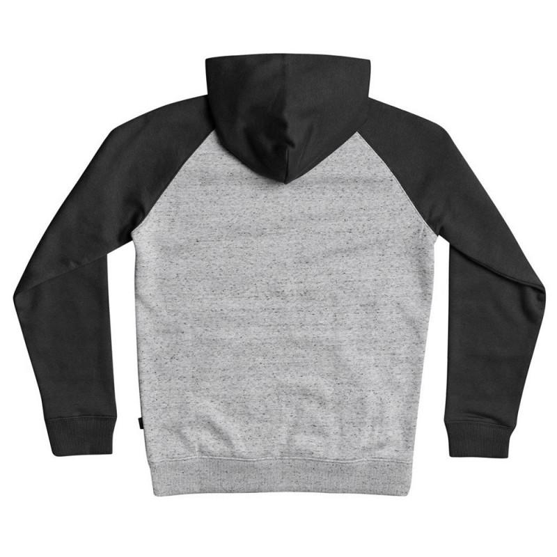 Sweat à capuche gris/rouge/noir enfant Quiksilver Easy Day Zip pas cher