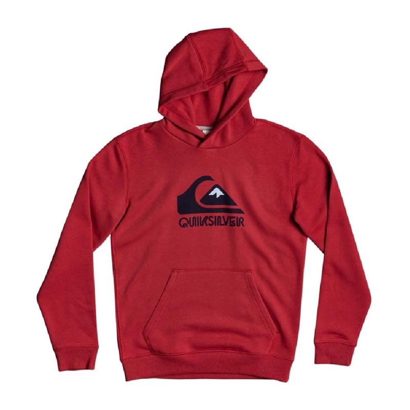 Sweat rouge garçon Quiksilver Big Logo Youth