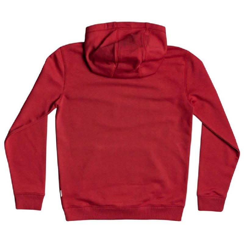 Sweat rouge garçon Quiksilver Big Logo Youth pas cher