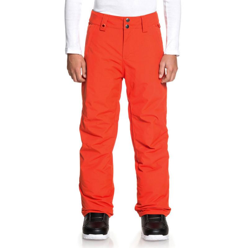 Pantalon de ski orange garçon Quiksilver Estate