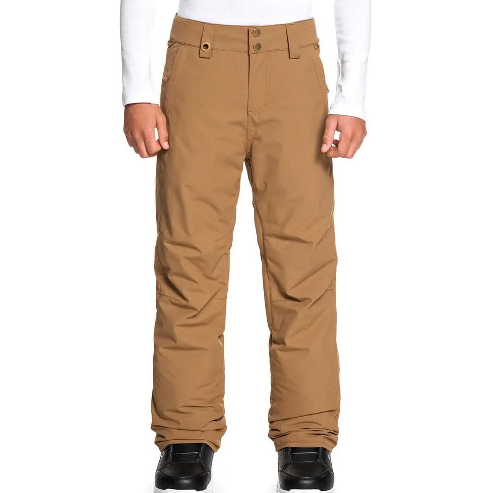 Pantalon de ski marron garçon Quiksilver Estate