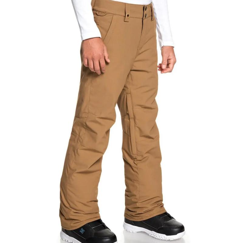 Pantalon de ski marron garçon Quiksilver Estate pas cher