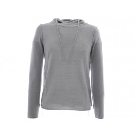 RICO PULL A CAPUCHE LIGHT GREY - Pull Homme Crossby
