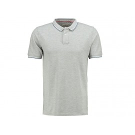 GURVAL MEDIUM GREY - Polo Homme Lee Cooper