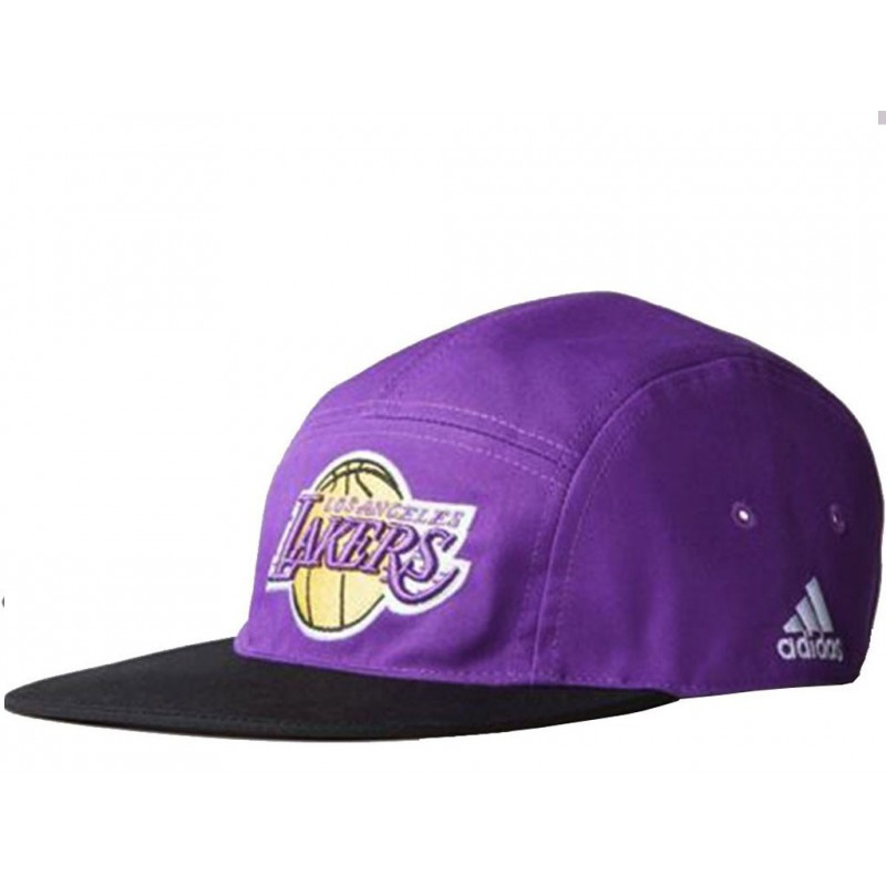 5P CAP LAKERS PUR Casquette Lakers Basketball Homme Adidas Casq