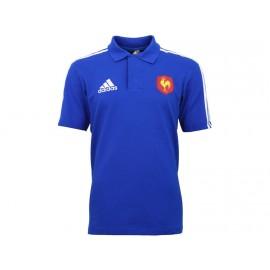FFR POLO BLU - Polo FFR Rugby Homme Adidas
