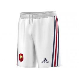 FFR H SHO Y BLC - Short FFR Rugby Garçon Adidas