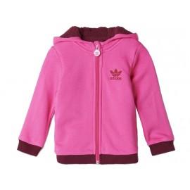 I TEDDY FURHOODY PIN - Veste Sherpa Bébé Fille Adidas