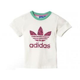 I CHEE TREFOIL LEO - Tee shirt Bébé Fille Adidas