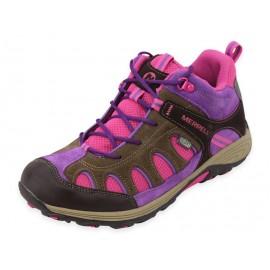 GIRLS CHAMELEON MID LACE BOI - Chaussures Randonnée Fille Merrell