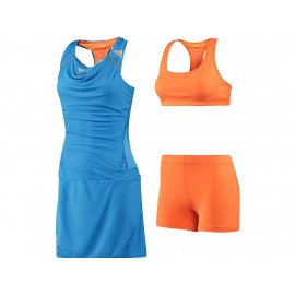 ADIZERO DRESS BLU - Robe Tennis Femme Adidas