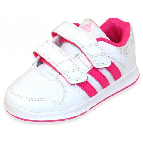 LK TRAINER 6 CF I BLC Chaussures Bb Fille Adidas