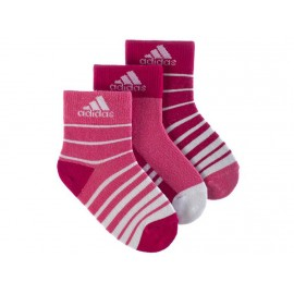 STRIPY ANKLE 3P ROS - Chaussettes Fille Adidas