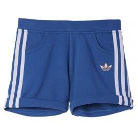 J GV SHORTS BLU - Short Fille Adidas