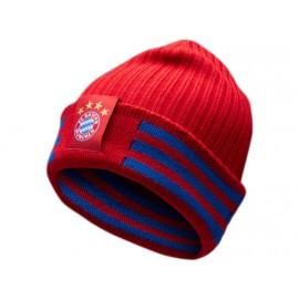 FCB 3S WOOLIE RED - Bonnet Bayern de Munich Football Homme Adidas