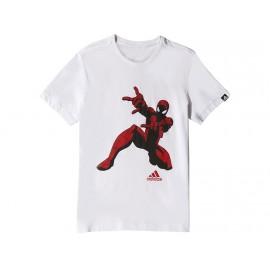 SPIDERMAN TEE BLC - Tee shirt Garçon Adidas