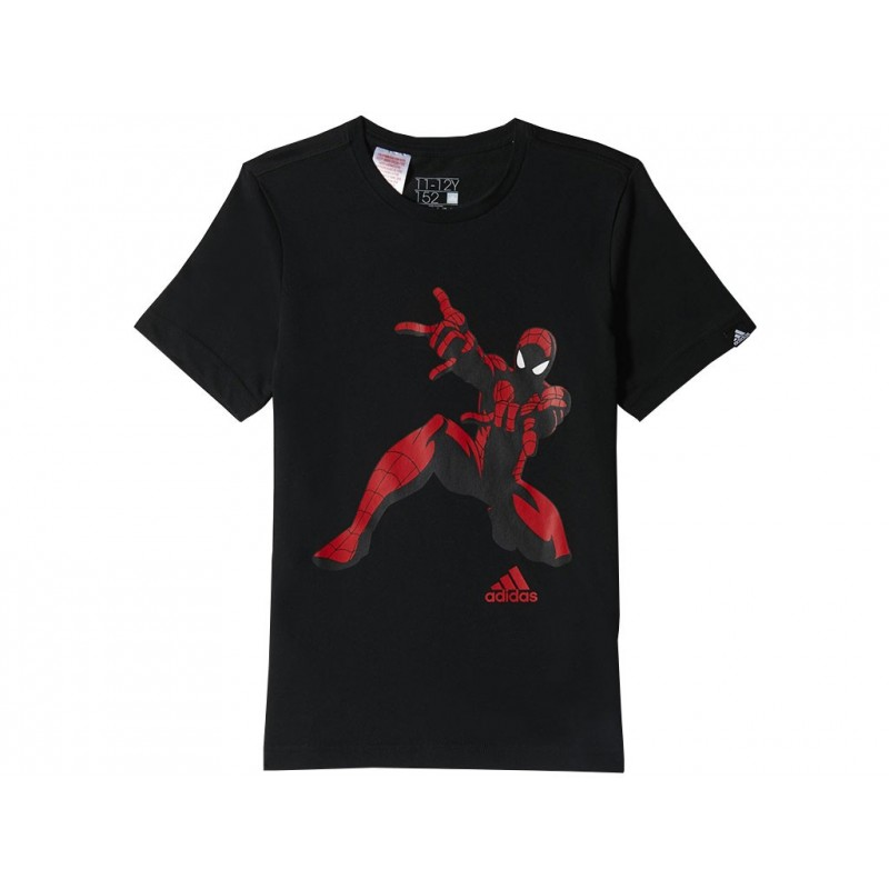 spiderman tee blk tee shirt gar on adidas t shirts. Black Bedroom Furniture Sets. Home Design Ideas