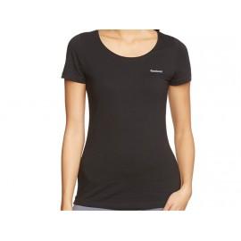 EL CREW SLIM W BLK - Tee shirt Femme Reebok