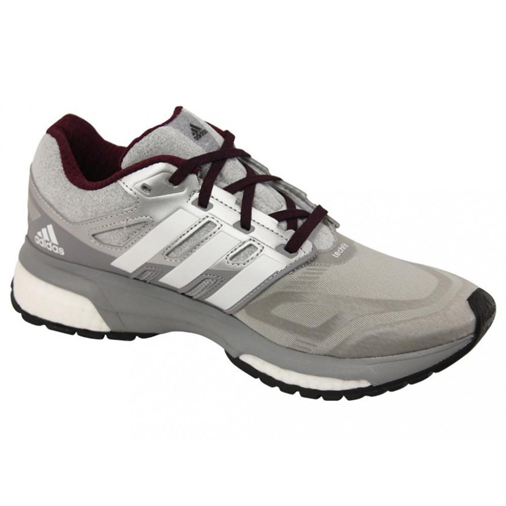 nouveau concept 7daa4 7329b Détails sur RESPONSE BOOST TECHFIT W GRI - Chaussures Running Femme Adidas  Gris
