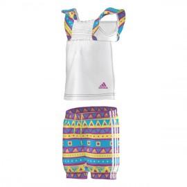 I J G BEACH SET BLC - Ensemble bébé fille Adidas