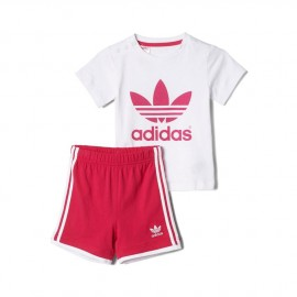 I TEE SHORT SET ROS - Ensemble Bébé Fille Adidas