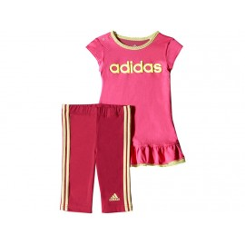 BB I J DRESS SET ROS - Ensemble Bébé Fille Adidas