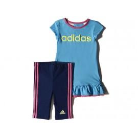 BB I J DRESS SET BLE - Ensemble Bébé Fille Adidas