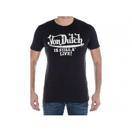 TEE SHIRT LOG BLK - Tee shirt Homme Von Dutch