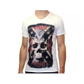 TEE SHIRT DENVER MC COL V DWI - Tee shirt Homme Crossby