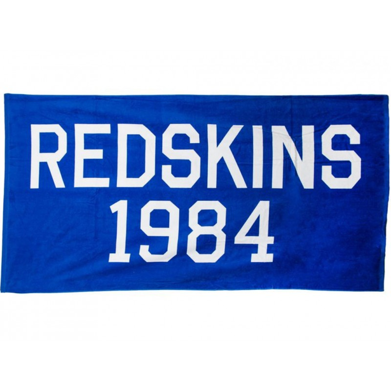 redskins towel blu serviette de plage homme redskins. Black Bedroom Furniture Sets. Home Design Ideas