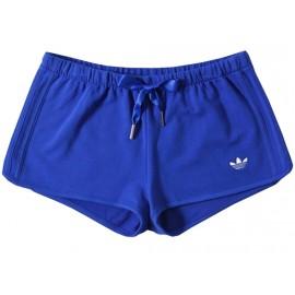 SLIM SHORT BLU - Short Femme Adidas