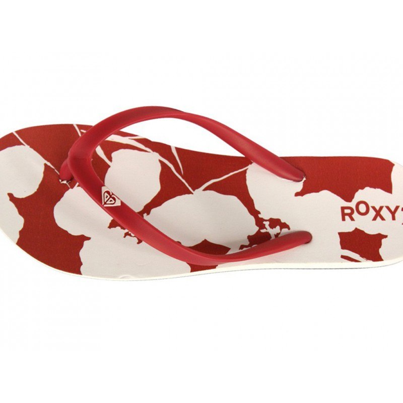 BAMBOO-RED-Tongs-Femme-Roxy