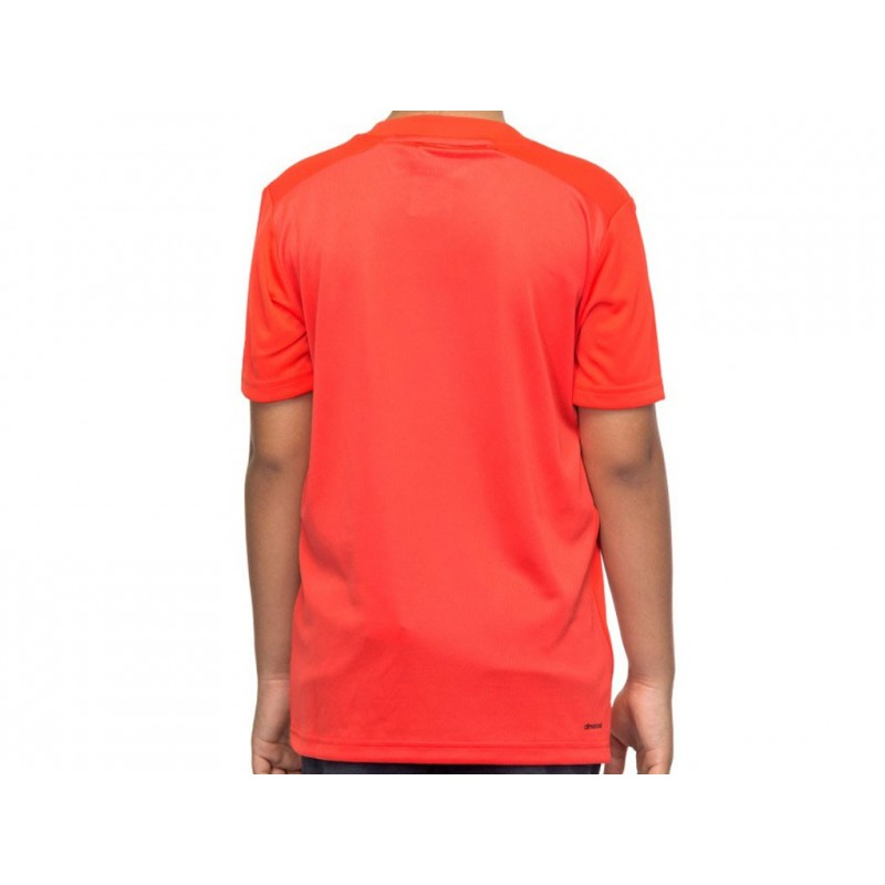 YB BARRICADE TEE ROU - Tee shirt Tennis Garçon Adidas