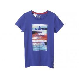 J CG TEE G VIO - Tee Shirt Fille Adidas