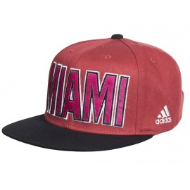 FLAT CAP HEAT RED - Casquette MIAMI HEAT Basketball Homme Adidas