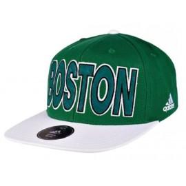 FLAT CAP CELTIC GRE - Casquette BOSTON CELTICS Basketball Homme Adidas