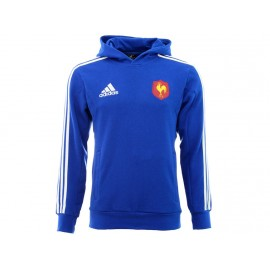 FFR HOOD SWT BLE - Sweat FFR Rugby Homme Adidas