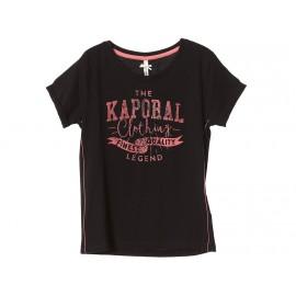 KOBEE TEE BLK - Tee shirt Fille Kaporal