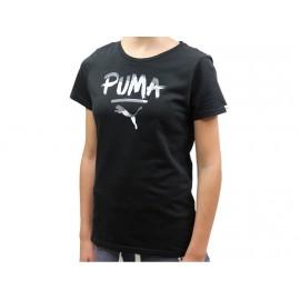 FUN TD LOGO TEE NR - Tee shirt Fille Puma