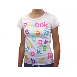 SS T-SHIRT BLC - Tee Shirt Fille Reebok