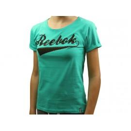 SS T-SHIRT VER - Tee Shirt Fille Reebok
