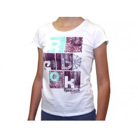 TEE SHIRT BLC - Tee Shirt Fille Reebok