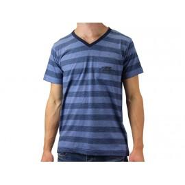 TEE SHIRT MC PLANA BLE - Tee shirt Homme Airness