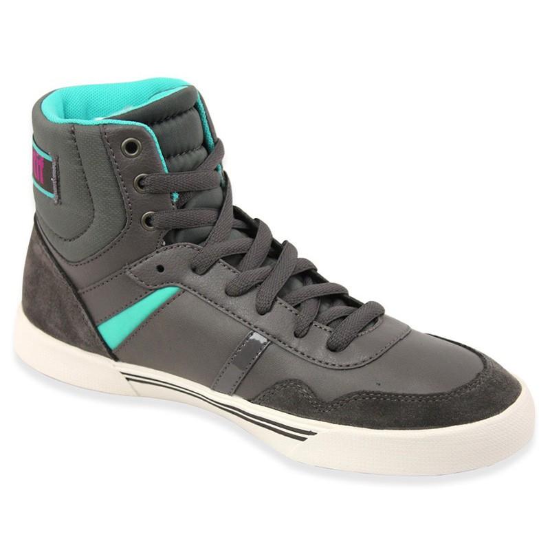 lecourbe w lea gri chaussures femme le coq sportif baskets. Black Bedroom Furniture Sets. Home Design Ideas