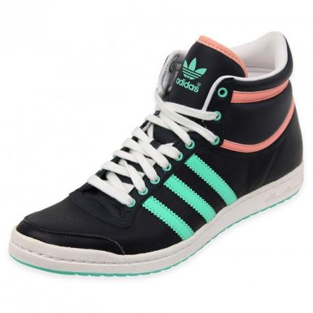 adidas chaussures / baskets top ten hi sleek en noir