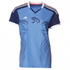HB FK JERSEY W BLE - Maillot Handball FFHB Femme Adidas
