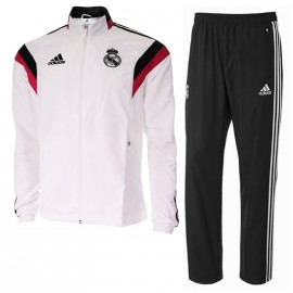 REAL PRES SUIT M BLC - Survêtement Football Real Madrid Homme Adidas