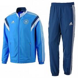 DBF PRES SUIT M BLE - Survêtement Football Allemagne Homme Adidas